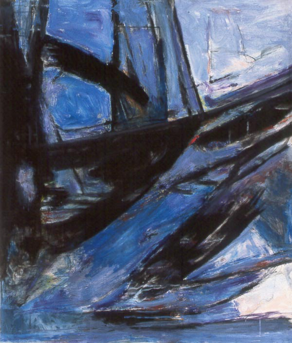 Painting: Marine (#9) by Eleanor Hilowitz (1913 - 2007).