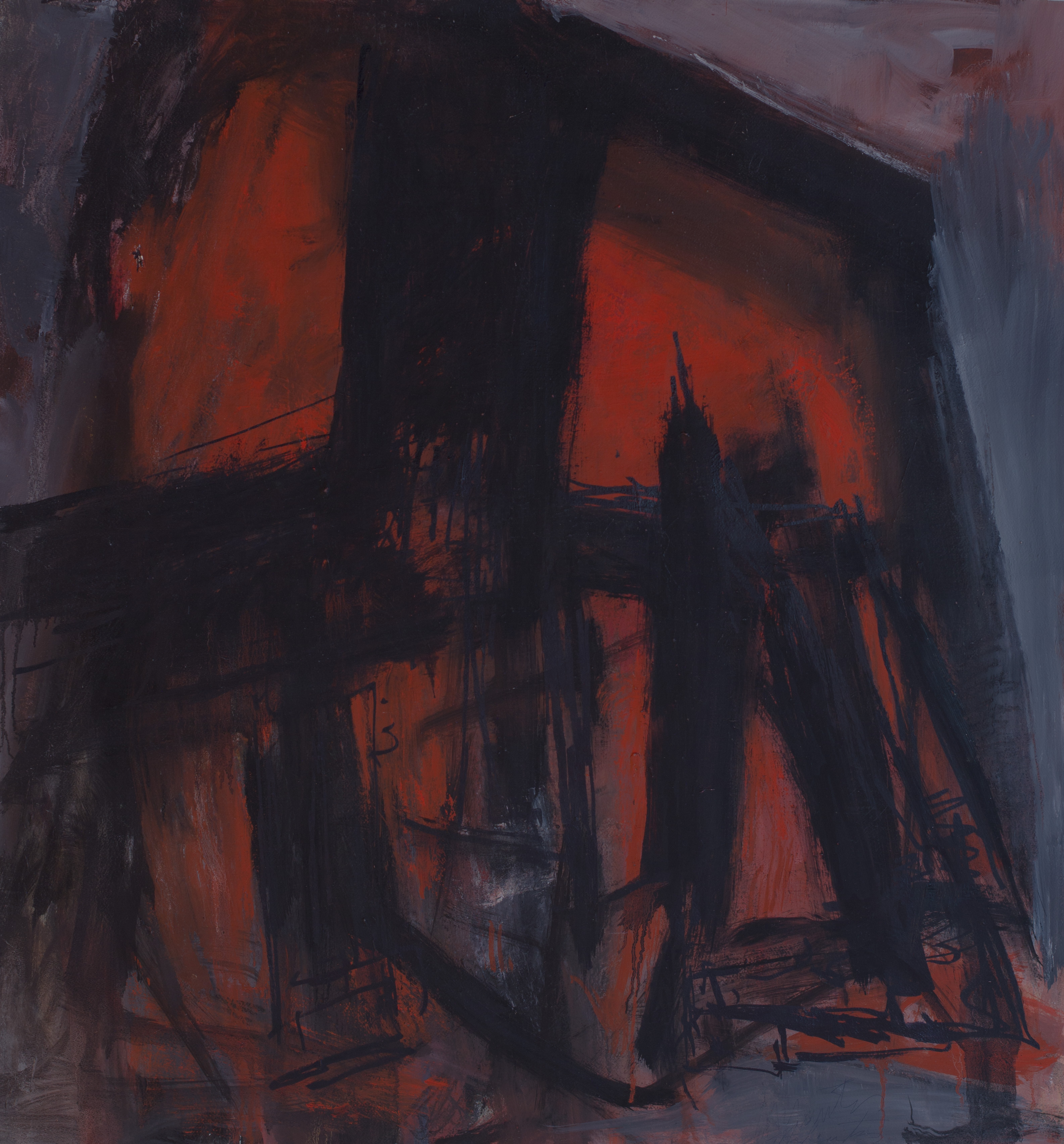 Painting: Vendetta (1996) by Eleanor Hilowitz (1913 - 2007)