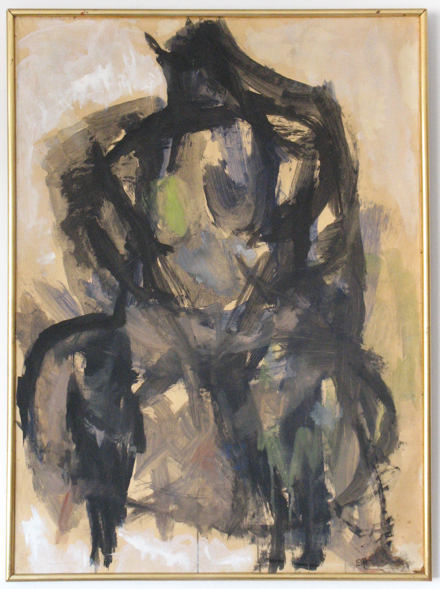 Painting: Seated Figure / Torso (#13) by Eleanor Hilowitz (1913 - 2007).