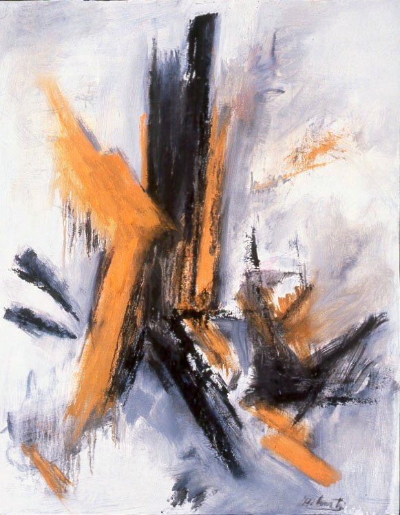 Painting: Orange, Black (#25) by Eleanor Hilowitz (1913 - 2007)