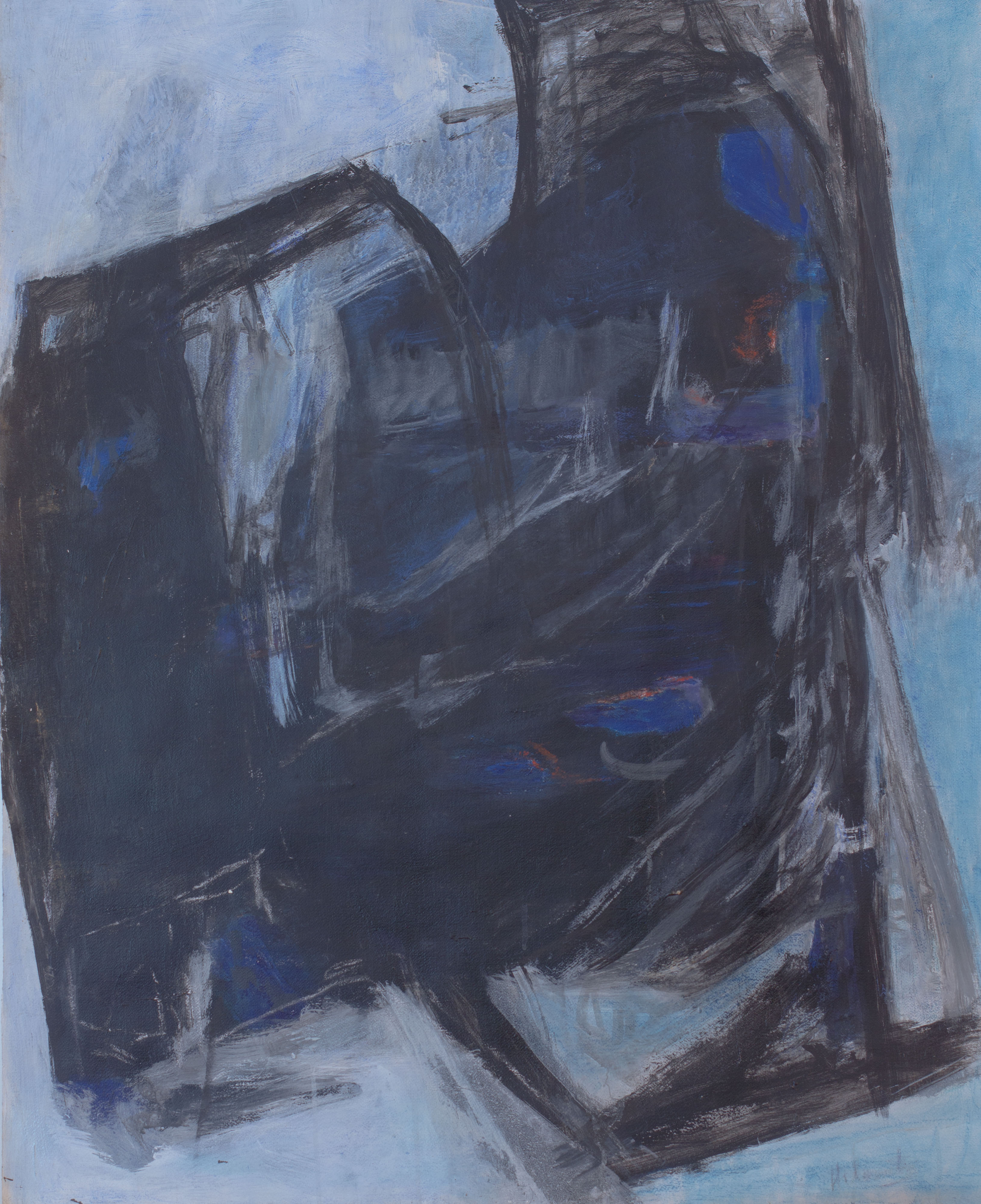 Painting: Buried Blue (#31) by Eleanor Hilowitz (1913 - 2007)