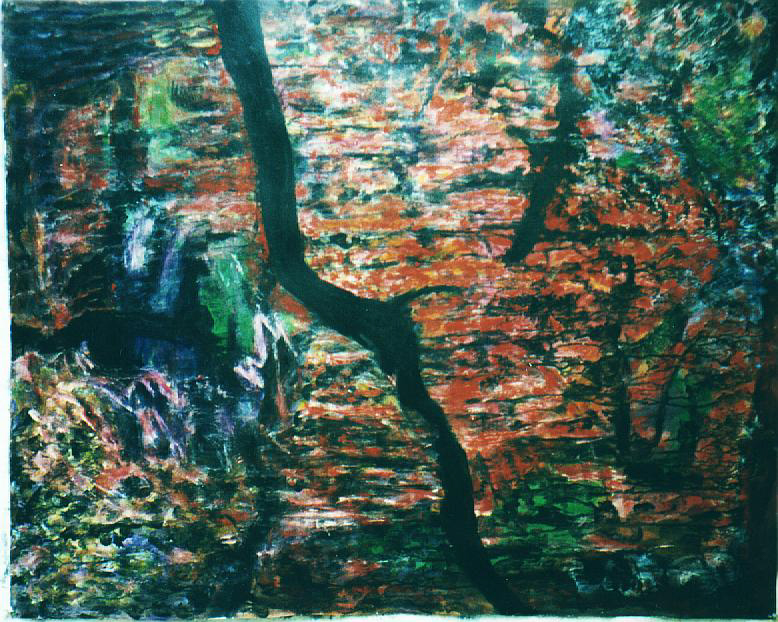 Painting: Night Forest (#34) by Eleanor Hilowitz (1913 - 2007)