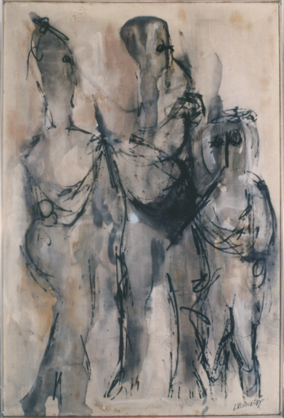 Painting: The Musicians (#43) by Eleanor Hilowitz (1913 - 2007)