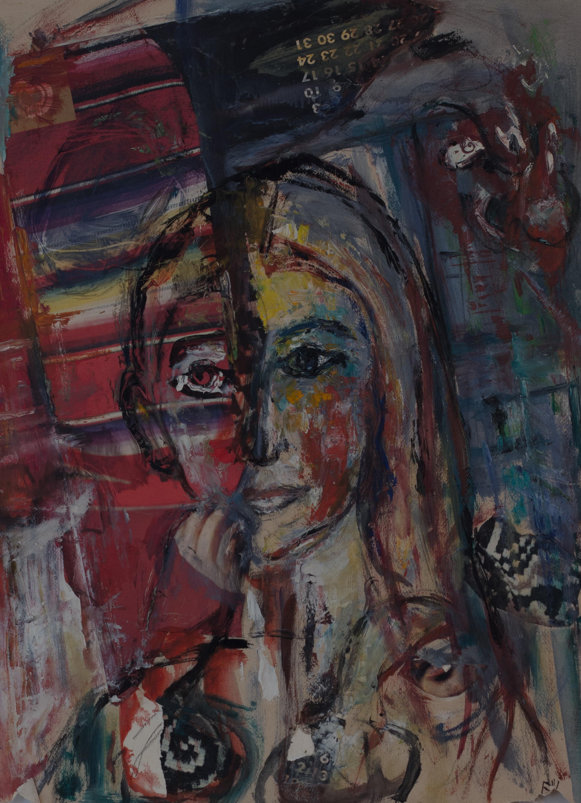 Painting: Portrait (#61) by Eleanor Hilowitz (1913 - 2007)