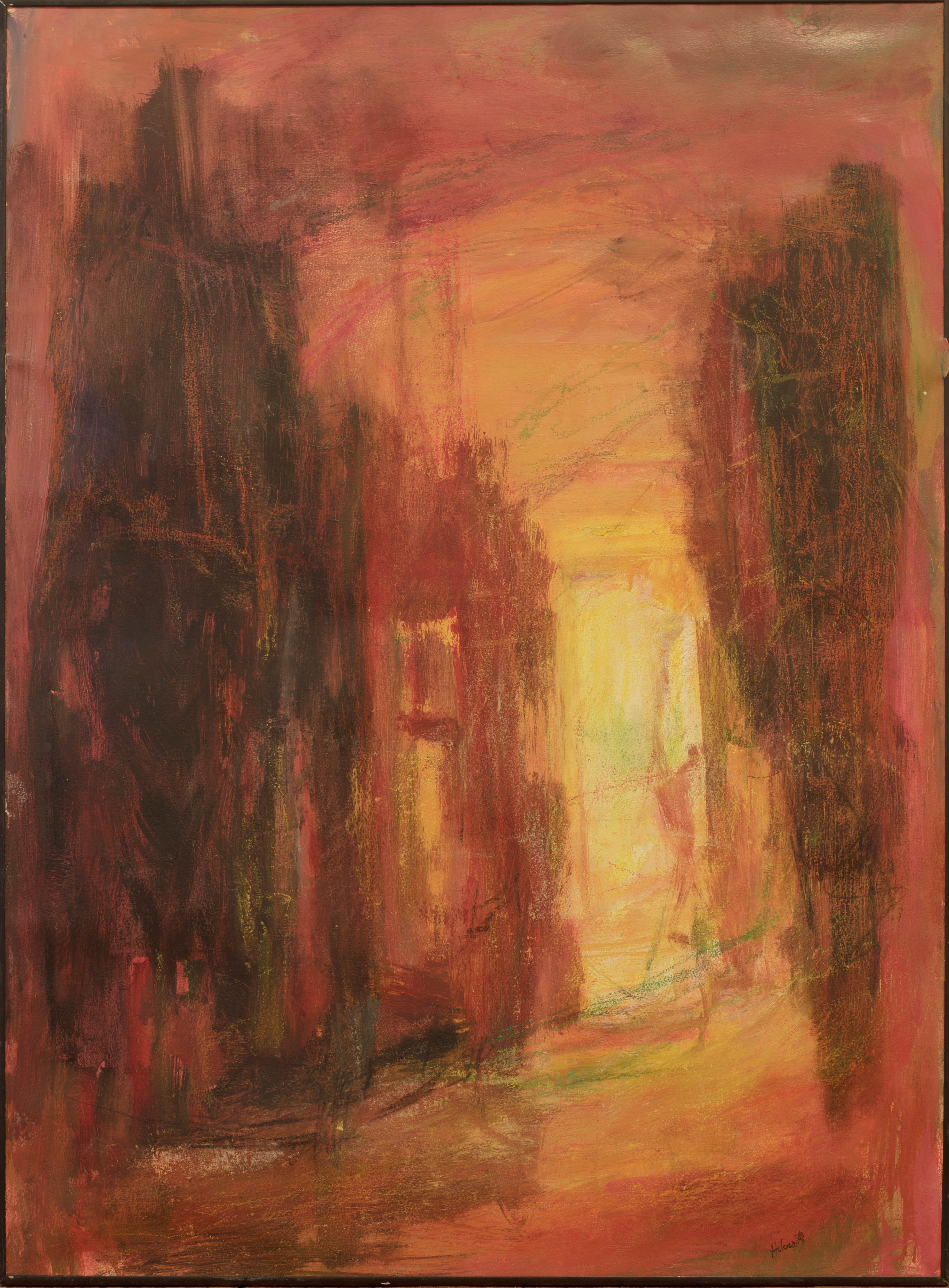 Painting: Into Yellow (#65) by Eleanor Hilowitz (1913 - 2007)